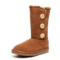 2013 parent-child shoes full genuine leather girls shoes child boots snow boots cotton-padded shoes