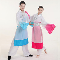 Elegant dance unique square dance costume younger modern dance long design male women's  free shipping