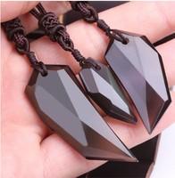 Talisman evil 5a black spike pendant natural obsidian pendant lovers design natural crystal