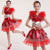Elegant twinset national clothing skirts younger choral service modern clothes costume women's  free shipping