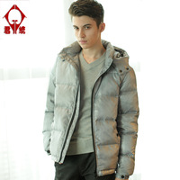 Down coat male fashion modern men's clothing 2013 winter thickening casual outerwear content of cashmere