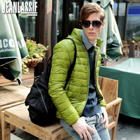 Jeanlassie 2013 men's clothing stand collar thin down coat short outerwear slim design thermal