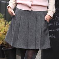 New 2014 autumn and winter outfit women's OL woolen pleated skirt short skirt bust skirt    Free shipping   B524