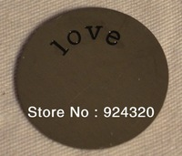 Floating Locket Memory PLATE LOVE Fits 25mm Necklace Key Chain Bracelet