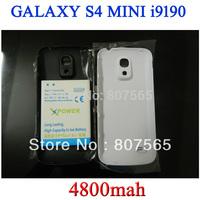 High capacity 4800mah Extended battery for Samsung Galaxy S4 Mini i9190 GT-i9190 Batterie Bateria Batterij ACCU