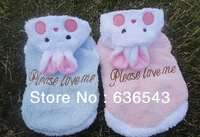 Free Shipping  Hot Sell Berber Fleece Pet Puppy Dog Clothes Cute Rabbits-Shaped Dog/Teddy Clothes/Coat/ For Winter Spring Autum