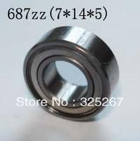 Free shipping--687ZZ deep groove ball bearings  ABEC-5  7*14*5    687ZZ Motor bearings