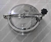 Stainless steel YAB manhole /AISI304 tank manhole cover/450mm round manhole door