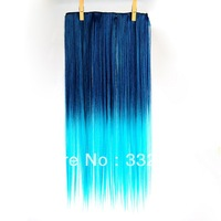 60CM long hair clips for women 4 kinds of style clip in hair extensions gradient Colors Free Shipping Retail / wholesale-2