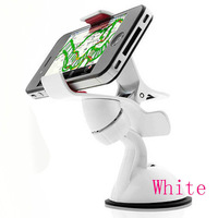 Hot New White Universal Car Windshield Mount Holder Bracket for Mobile Phone MP4 MP5 GPS HG-0523-WT