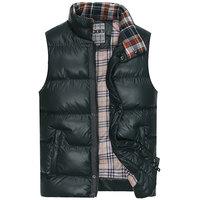 Winter Warm Man's Down Cotton Vest 2013 male vest  fashion male slim cotton vest outerwear casual vest