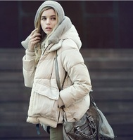 2013 winter tooling thickening with a hood outerwear down coat short design women's maternity clothing