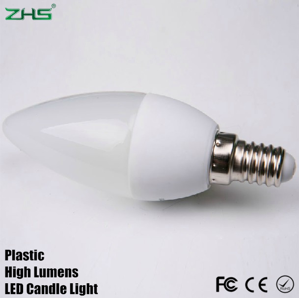 Free Shipping 3W 300lm Epistar LED lamp e14 Candle light bulb cool/warm white CE&ROHS 220V for home&Crystal Chandelier(China (Mainland))