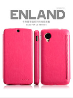 10PCS/LOT Free shipping KLD England series side flip leather case for LG NEXUS 5