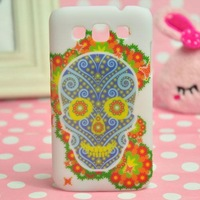 Wholesale 100pcs DHL Flower Colorful Cartoon Graffiti Matte Hard Case Skin Cover Back Protector For Samsung Galaxy Win i8552