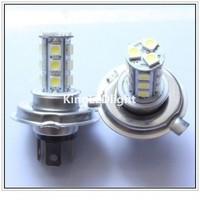Free Shipping 2pcs Fog Head light H4 LED Bulb 18 SMD 5050 12V White Car Daytime Driving Auto Lamp Fog Beam Light
