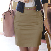 New 2014 Fashion Korean Version Of the Suit Career Short Skirts Rendering Package Hip Skirt  B301