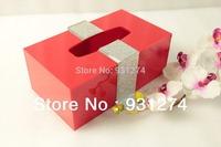 Stylish Acrylic tissue box Napkin holder Tissue case Napkin organizer Lucite paper holder Handkerchief case Free Shipping