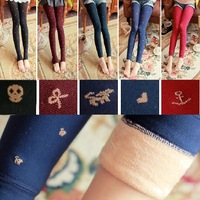 freeshopping Berber fleece ball double layer warm pants small cat hook love pantyhose