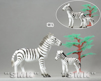 Big zebra and baby zebra. The zebra animal model. 1 set= 2 pieces. lovely. High quality toys for children