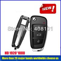 Hot Sales HD 1080P & IR NIGHT VISION  Waterproof  Mini Motion Detection Keychain  Hidden DVR camera , Free Shipping.