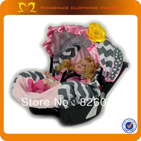 High Quality Toddler Car Seat Covers Grey Match Pink Hem Car Seat Covers Cheap Car Seat Covers 2sets/lot