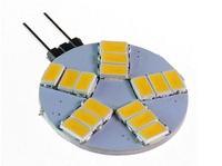 NEW 10pcs wholesale Free Shipping G4 5W 480-Lumen 3500K 15SMD 5630 LED RD AC Light Pure Warm White Bulb Lamp AC 12V
