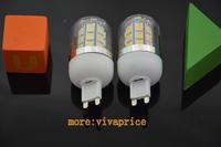 Wholesale 50pcs Bright LED Corn Light  4.5W  220V 27leds G9  SMD 5050 White/Warm White  360 degree