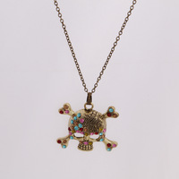 Han edition skeleton sweater chain  fashion pendant necklace