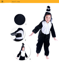 2013 Anime Animal Children's Cartoon  penguin  Kigurumi Kids in  Velboa Onesie Pajamas Sleepwear