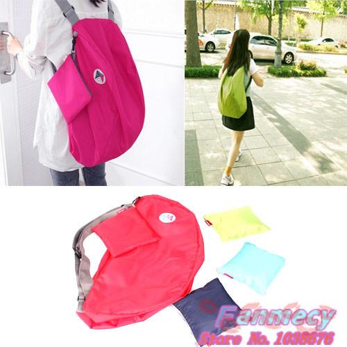 Multi-function Outdoor travel convert folding storage bag Shoulder bag women zipper nylon Backpack freeshipping backpacks(China (Mainland))