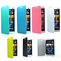 NEW Hot Selling Stylish Ultra-thin Flip Fold Leather Case Cover for HTC One M7 32GB Phone Accessories