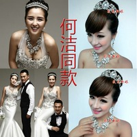 luxury CRYSTAL bridal jewelry sets, fashion necklaces and tiara sets,wedding dress accessories GE70