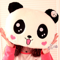 Doll cartoon panda doll plush cushion thermal pillow