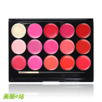 Free shipping Pro 15 Colours Lipstick Lipgloss Set Makeup Lip Beauty Cosmetics