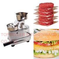 Hot selling 100MM hamburger press,hamburger patty maker,hamburger mould,hamburger press machine,aluminum burger press