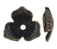 Free shipping!!!Zinc Alloy Bead Cap,Lucky Jewelry, Flower, antique copper color plated, nickel, lead & cadmium free, 11x11mm