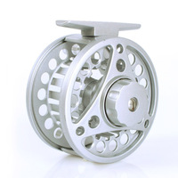 Top Quality Silver Aluminium 2+1BB Fly Reel Trout Fly Fishing Reel SIZE 7/8 85mm