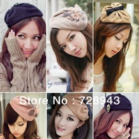 2013 New Korean Style Bow hat badge hair bands headband hairpin hair pin yarn hair bands hair accessory
