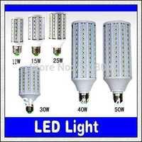 Free shipping 1PCS 5630 SMD CREE chip E27 B22 E1412W/15W/25W/30W/40W/50W LED 110V/ 220V AC led bulb white warm white blub corn