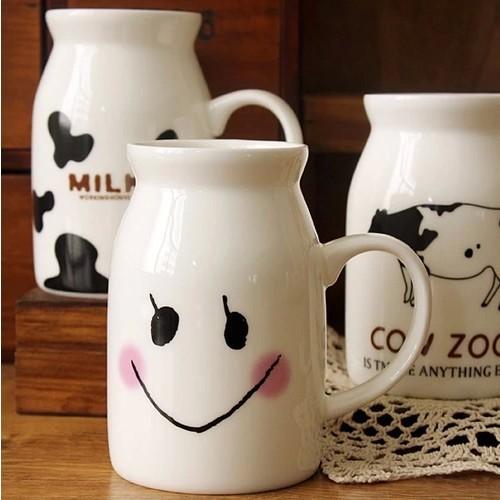 400ml Fashion White Ceramic Milk Pot Breakfast Drinking Mug Eco Friendly Kitchenware SH147(China (Mainland))