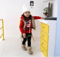 4pcs/lot girls boys mickey sweatshirts hoody childrens long sleeve navyblue USA flag hoodies top clothes tops clothes