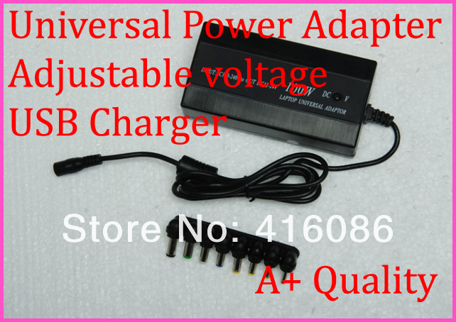 100W Universal Laptop Adapter USB Power Charger 5V 1A with adjustable voltage function and 8 interchangeable tips+Free Shipping(China (Mainland))