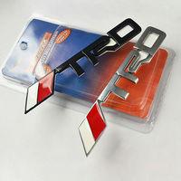 High quality Car Metal TRD Decoration Sticker for Toyota Camry Corolla Highlander Reiz Free shipping