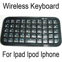 10pcs/lot High Quality MultiMedia Mini Wireless Bluetooth Keyboard for ipod ipad iphone laptop Free Shipping