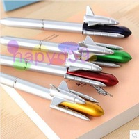 10pcs creative cute cartoon rocket pen ballpoint pen student school stationery office supplies advertising gifts