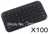 100pcs/lot High Quality MultiMedia Mini Wireless Bluetooth Keyboard for ipod ipad iphone laptop Free Shipping