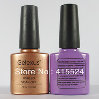 Free Shipping  3Pcs/lot  2014 New Gelexus Shellac Soak Off UV Gel Polish (1pc color gel+1pc base gel+1pc top coat)