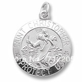 free shipping 12pcs a lot rhodium plated SAINT CHRISTOPHER PROTECT US Charm religious jewelry accessory(H104926)