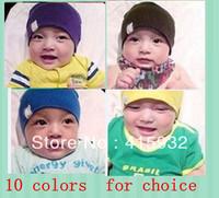Free shipping baby hat baby cap infant cap 1pcs/lot Beanie Infant Hat Skull Cap Toddler Boys & Girls Hat/ 23 colors Wholesale
